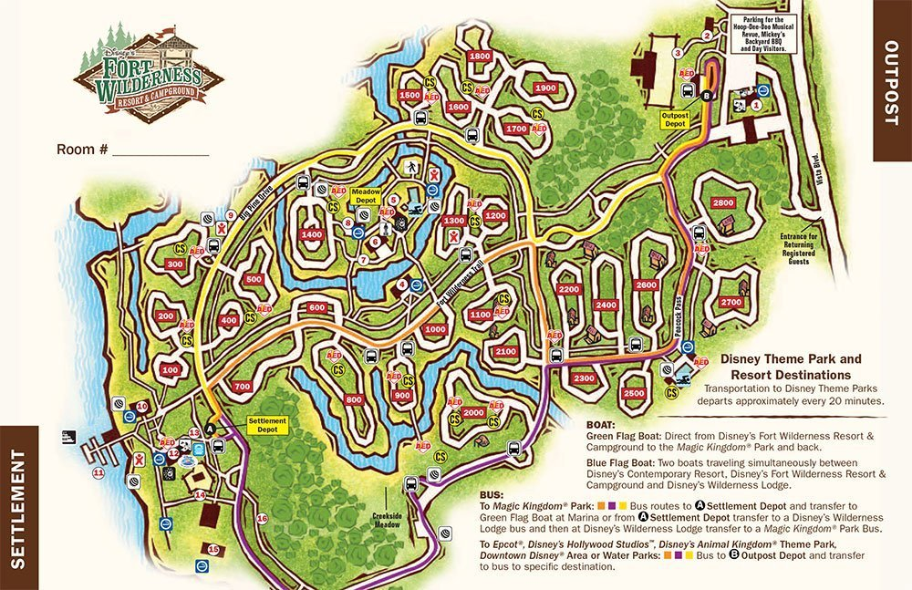 fort wildreness resort map disney world