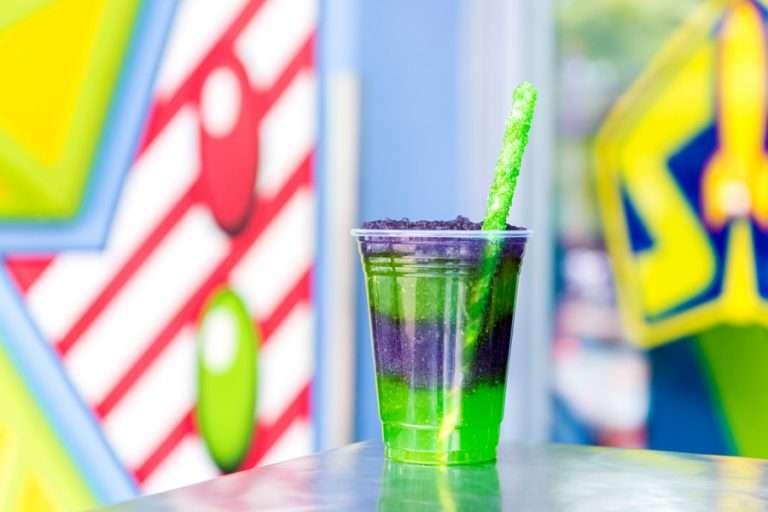 New Disney Snacks Disney Space Ranger Slush at the Lunching Pad Magic Kingdom