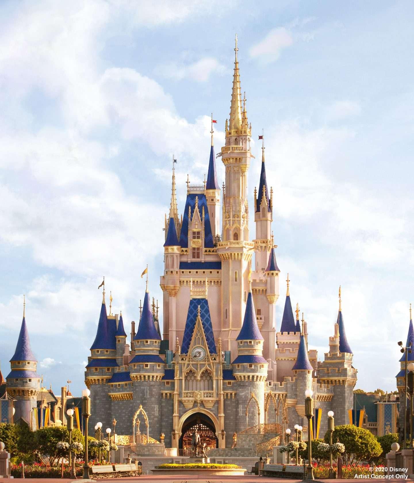Cinderellas 50th anniversary castle walt disney world 50th anniversary