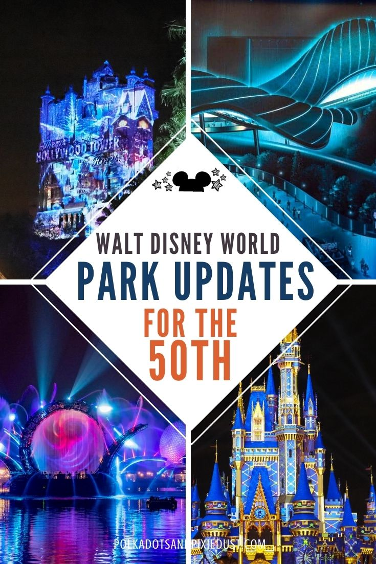 Walt Disney World Park Updates for the 50th in all four parks!