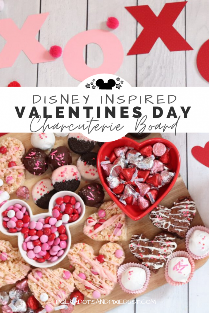 Disney Valentines Treats just in time for Valentines Day! Check out all these easy treats to make up a Mickey inspired charcuterie board. #disneyvalentinesday #valentinesday #mickeytreats #disneysnacks