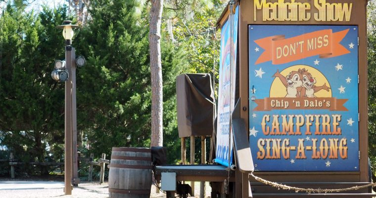 Chip n Dale's Campfire Sing-A-Long at Disney Fort Wilderness