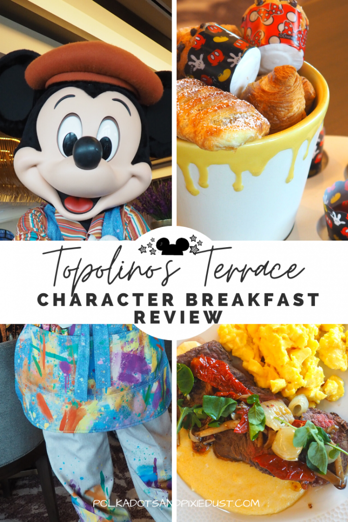 The Disney Character Breakfast at Topolino's Terrace at Disney's Riviera Resort offers amazing food, visits from Mickey and Friends and is budget friendly. Here is everything you need to know about Topolino's Character Breakfast. #topolinosterrace #disneyrestaurants #disneyvacation #disneycharacterbreakfast