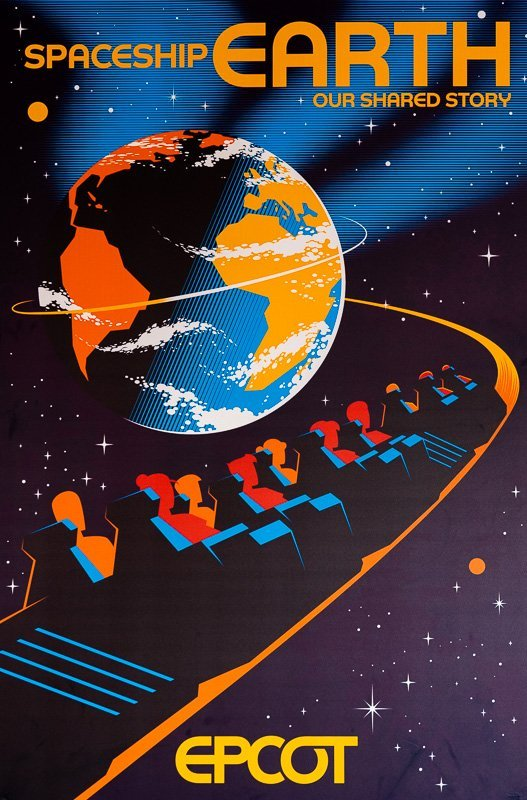 Spaceship Earth Poster D23 Spaceship Earth Our Shared Story