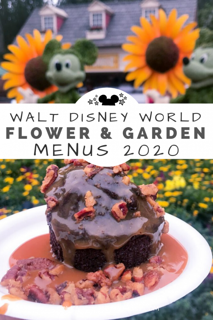 Disney Flower and Garden Festival Menus 2020 and printable to help you plan your festival, booths and Disney Itinerary for 2020. #freshepcot #disneyitinerary #disneymenus #flowerandgarden2020 #disney2020