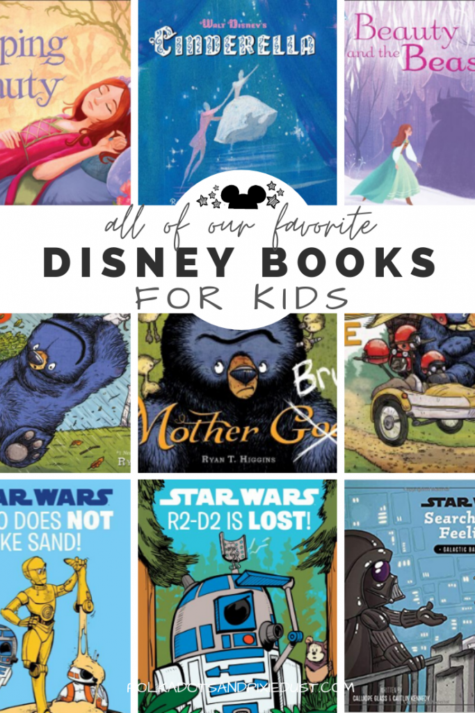 The Best Disney Books for Kids are all about fairytales, adventures, far away places and fun! You don't need an excuse to settle in and get cozy with our favorite pictures books, disney first readers, star wars chapter books and timmy failure. Here are the Best Disney Books for Kids. #bestkidsbooks #disneybooks #kidbooks #disneygifts
