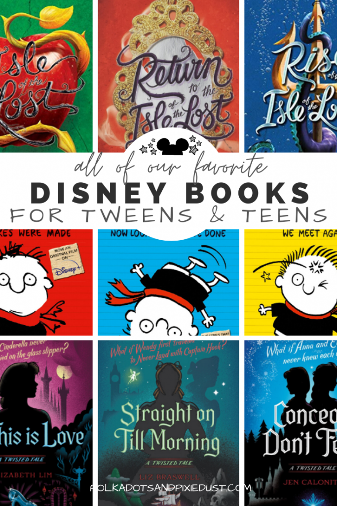 Disney books for Tweens and Teens are all about Disney adventures. Saving the parks from the bad guys, taking down mastermind criminals, twisted fairytales and even the Descendants get a place in thsi list! #disneybooks #disneyteen #disneygifts #disneyathome