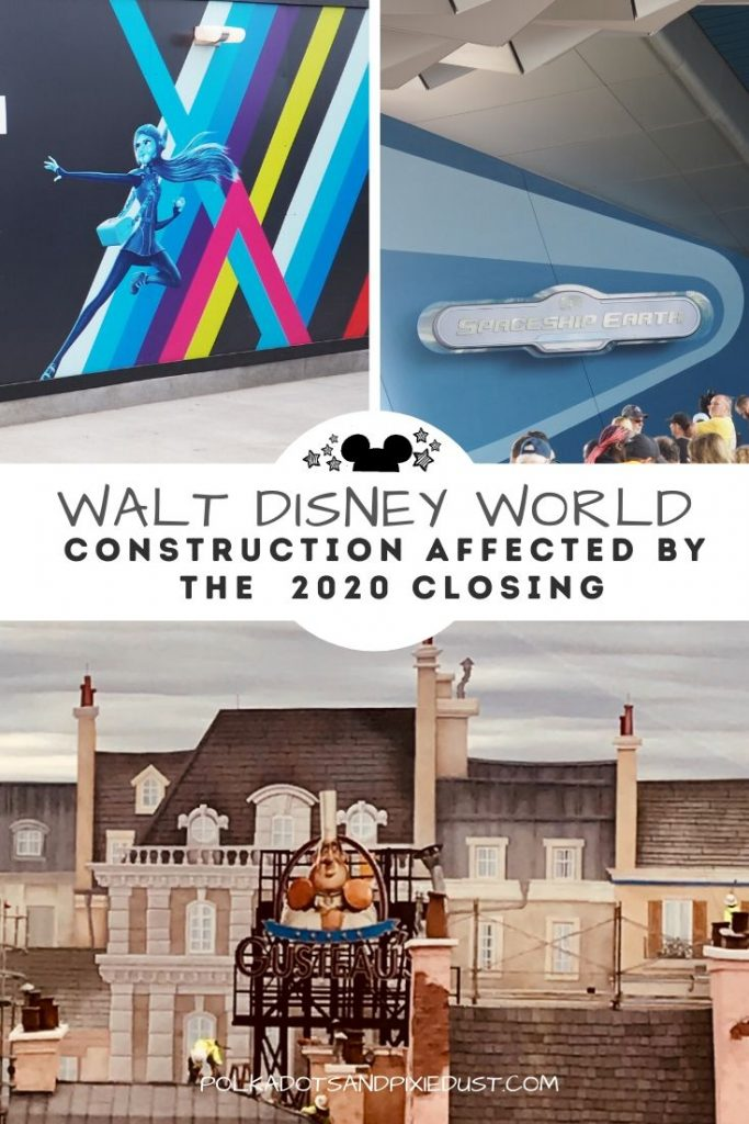 Here's all the construction projects that were happening at Walt Disney World when they closed and the ones that are still going forward, and some that may be delayed or halted #disneyprojects #disney2020 #disneyconstruction #polkadotpixies