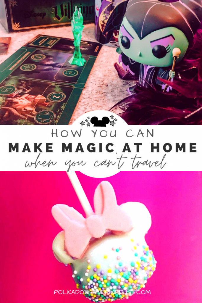 Here's our favorite ways to bring a little Disney Magic to your home. Especially when you're stuck inside and can't travel! From great recipes, to games, to shows, to activities. We've got a bunch of Disney-inspired things to do, eat and make just in time to stay home. #disneydiy #disneyrecipes #disneyhome #disneyathome