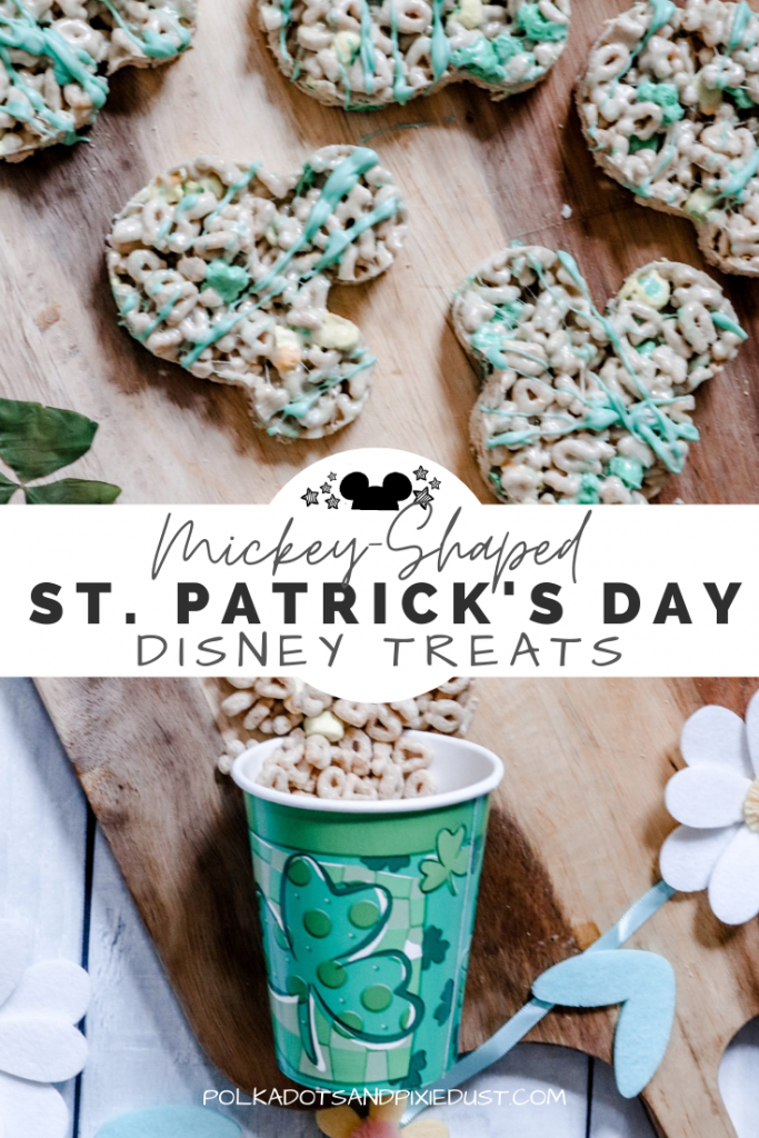 St. Patricks Day Treats, Disney Style. You know we love MICKEY shaped food and just couldn't help adding a little Disney to our holiday! Check out our fun, easy Disney Snacks for ST. Pats! #disneysnacks #disneyholiday #stpatricksday #mickeyfood