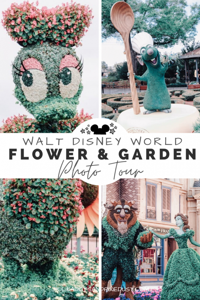 Disney's Flower and Garden Festival Photo Tour. All the amazing topiaries from this years Flower and Garden Festival at Epcot in 2020. #disneyworld #epcot #disney2020 #freshepcot #flowerandgarden