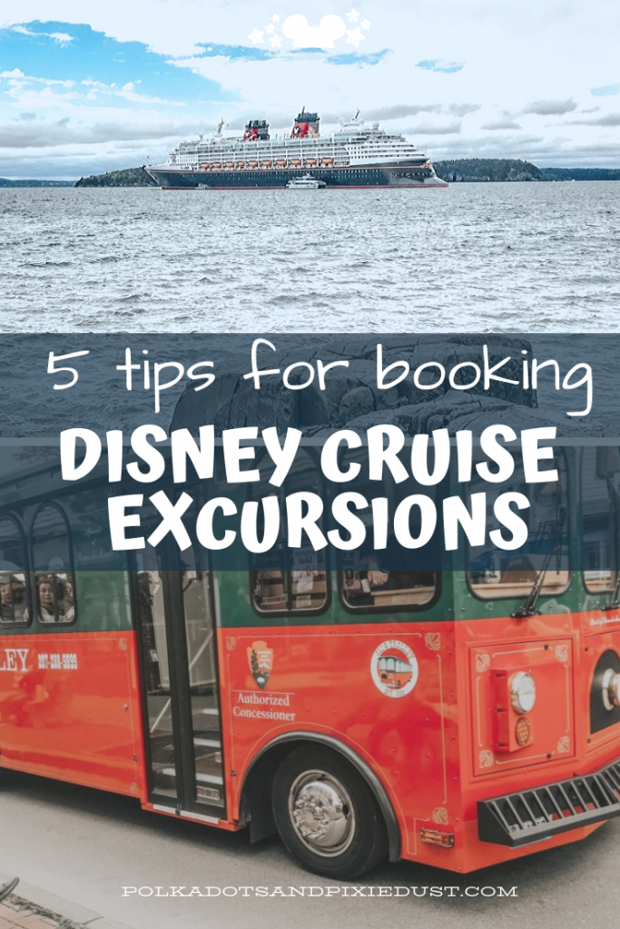 Disney Cruise Excursions can be confusing to figure out, overwhelming and expensive. And when you have a certain booking window, also stressful! So here's what you need to know when you're excited to make the most of your time at port. Our top 5 tips for booking disney cruise excursions. #disneycruise #disneycruiseexcursions #disneyvacations #disneytips