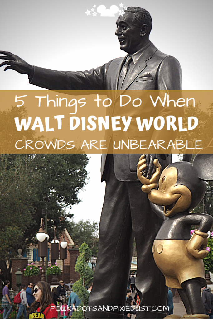 Crowds at Walt Disney World have been very overwhelming lately! With the elimination of the off-season and everyone who is anyone traveling to Disney parks, everything is getting more crowded. Thankfully, it doesn't have to ruin your Disney Vacation. Here are our TOP 5 TIPS of how to deal with the crowds at Walt Disney World. Disney tips for Your Disney Vacation #polkadotpixies #waltdisneyworld #disneyfamily #disney2020