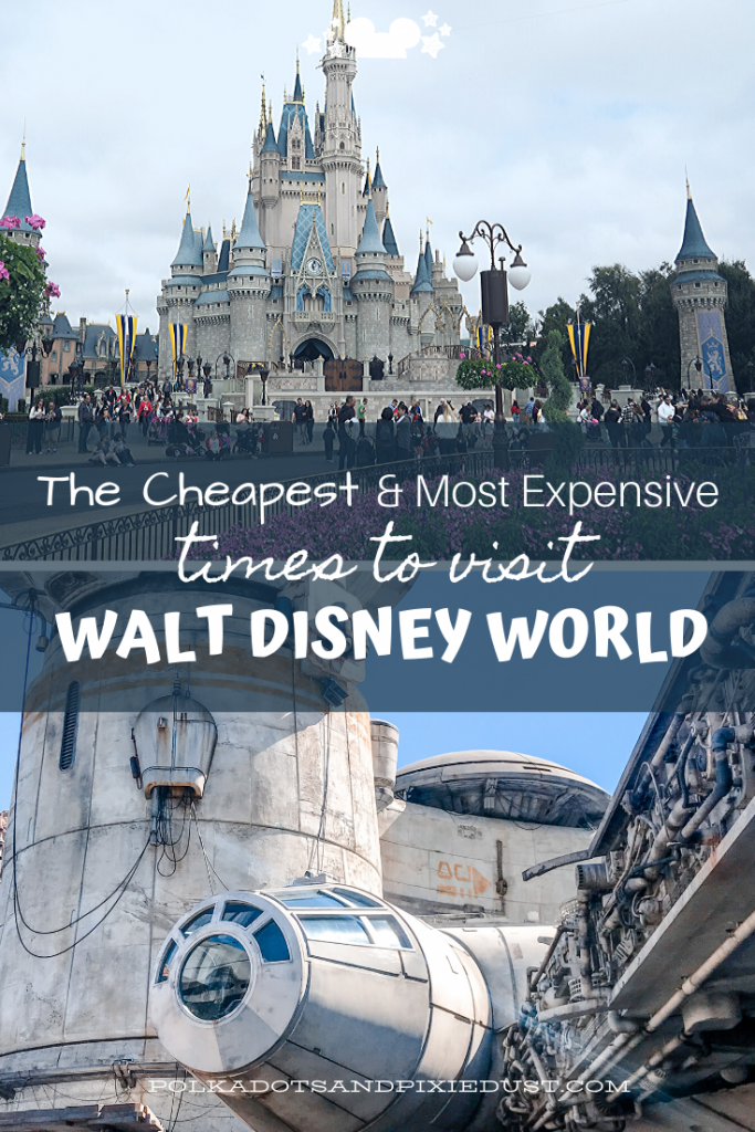Cheap Disney Vacations are often just a matter of TIMING! Here's what we know about the cheapest and most expensive times to visit Walt Disney World. Disney tips for Your Disney Vacation #polkadotpixies  #waltdisneyworld #disneyfamily #disney2020