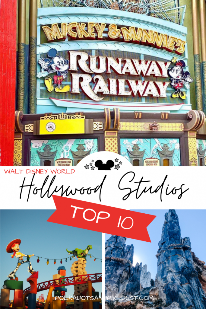 Hollywood Studios Top 10 Things to do at Walt Disney World. Which rides, food and fun you should add to your Disney Vacation Plans! #disneyvacation #hollywoodstudios #disneytop10 #waltdisneyworld