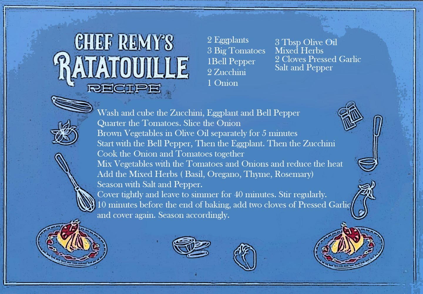 Remy's Ratatouille Recipe from Disney's Flower and Garden Festival 2020