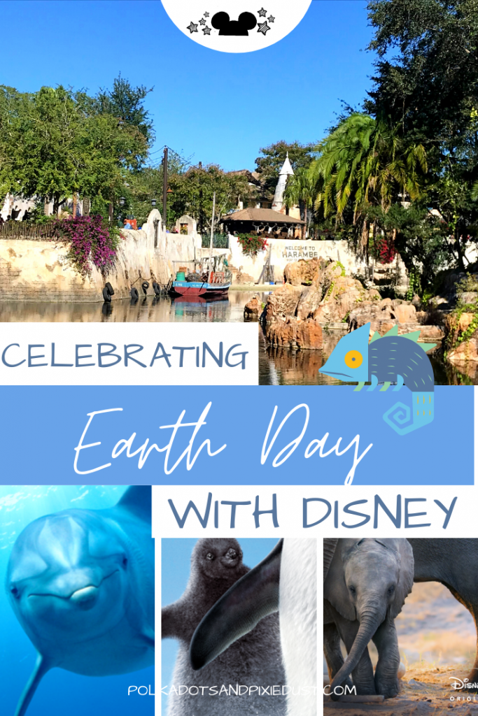 Earth Day at Walt Disney World may look different now that the parks are closed, but you can be sure there will still be celebrations for the Anniversary's of Earth Day and the Disney Conservation Fund. Here is everything planned for Earth Day with Disney. Plus new Disneynature shows to watch! #disneynature #disneyearthday #earthday #savetheplanet #polkadotpixies