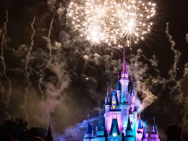 Fireworks at Walt Disney World July 1 2021
