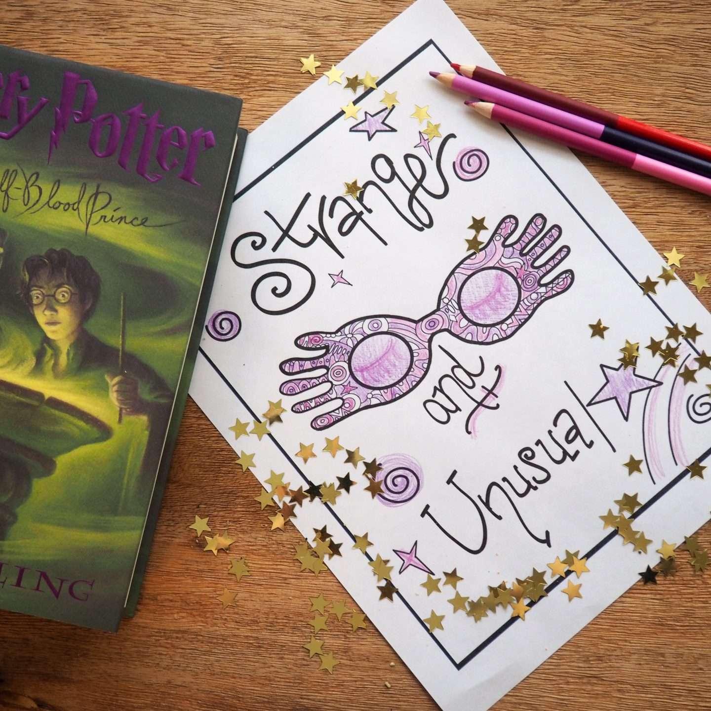 harry potter coloring sheets luna lovegood