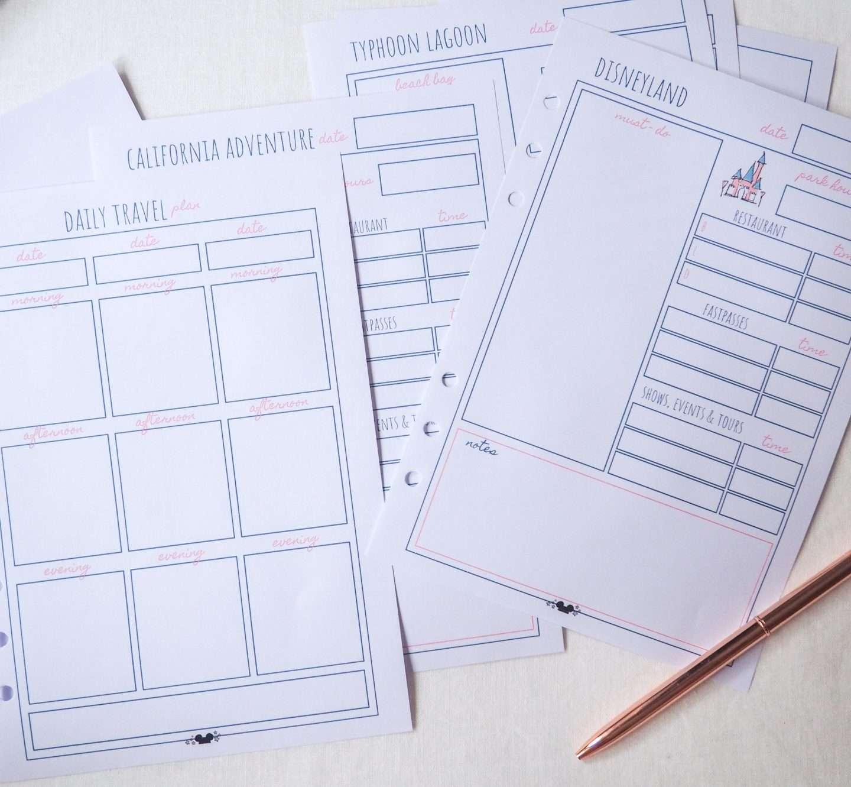 disney planner fastpass planner disney vacation planner printable