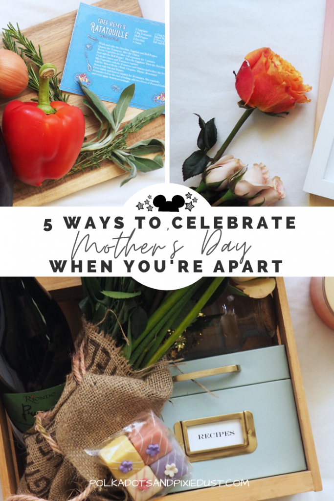 Spending Mother's Day apart is tough. But that doesn't mean you can't still make it special. Here are 5 ways to spend mothers day apart without feeling terrible. Easy things to do for Mom when you can't see her in person. #mothersday #mothersday2020 #mothersdayapart #polkadotpixies