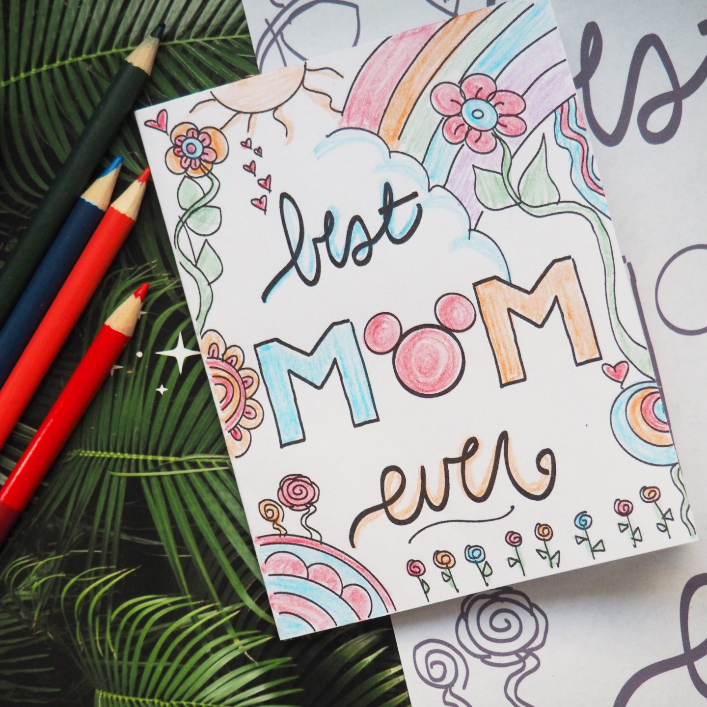 disney mothers day card free disney printable