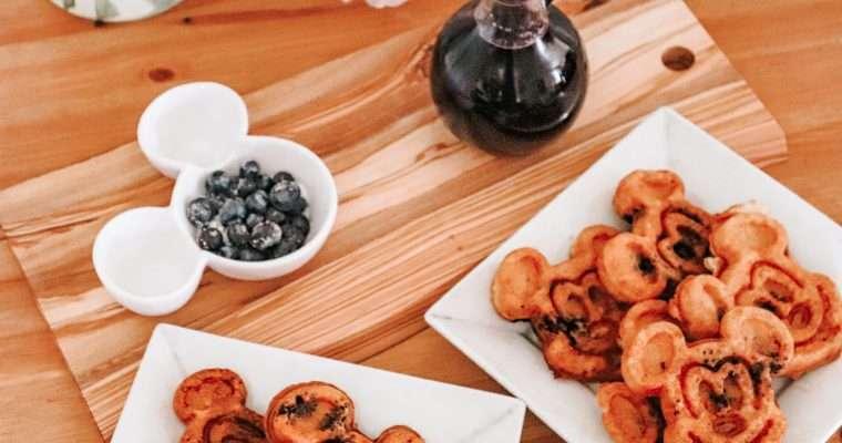 Bibbidi Bobbidi Blueberry Mickey Waffles