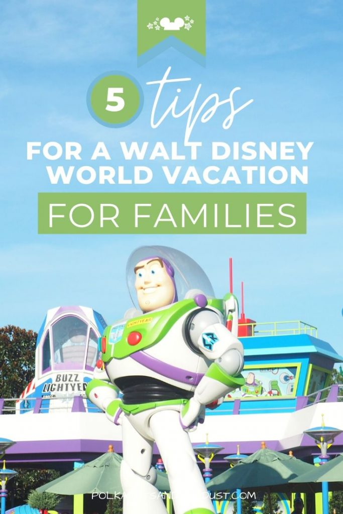 We've pulled together 5 Tips for your Disney Family Vacation. Traveling to Walt Disney World is a lifelong dream for many families. But what age should you bring the kids? Where should you stay? Should you visit other theme Parks in Orlando, Florida too? #disneyvacation #disneyfamily #disneytips
