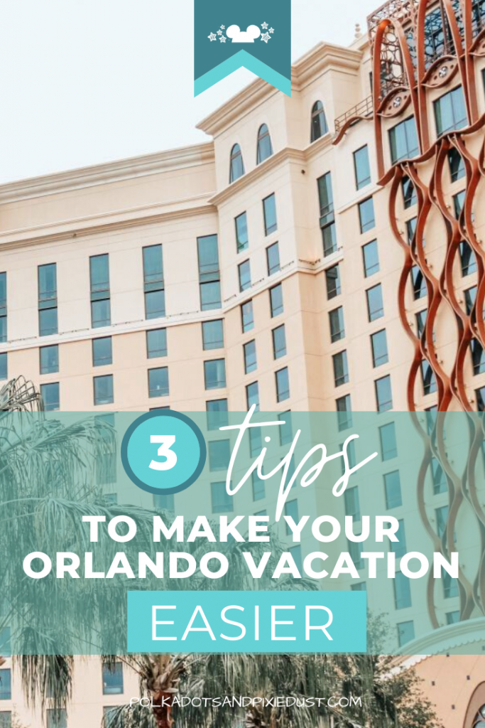 Florida Vacations can be made easy! Check out these 3 tips to make your Orlando Vacation a little bit easier! Get ready to have a stress-free vacation. #floridavacations #orlandoparktickets