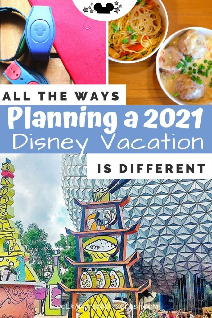How planning a Disney Vacation in 2021 is going to be a Whole Lot Different than we're used to. From new rules, to no dining plans to park reservations. Here's eveything to know about planning a Disney Vacation for 2021. #disneyvacation #disney2021 #disneyplanning #polkadotpixies