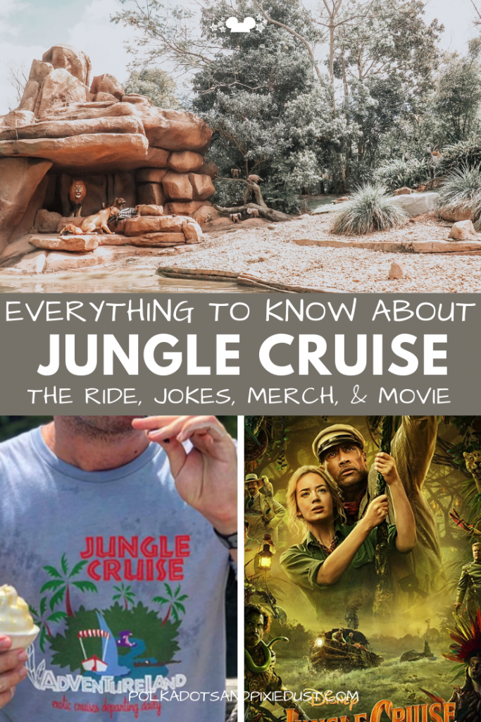 The Best Jungle Cruise Jokes we've heard so far! This Disney ride includes puns, fun merch, a little history, and when the new Jungle Cruise Movie releases. Check out all things Jungle Cruise! #waltdisneyworld #disneyvacation #polkadotpixies