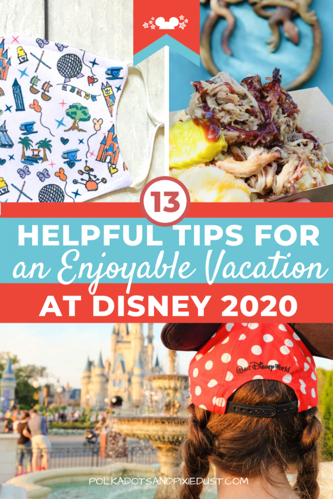 Visiting Disney in 2020 or 2021? Make sure your vacation is an ENJOYABLE one with these 13 tips to keep you Safe, Healthy, and Prepared. So you can have MORE Fun and less worry. #disneyvacation2020 #disney2020
