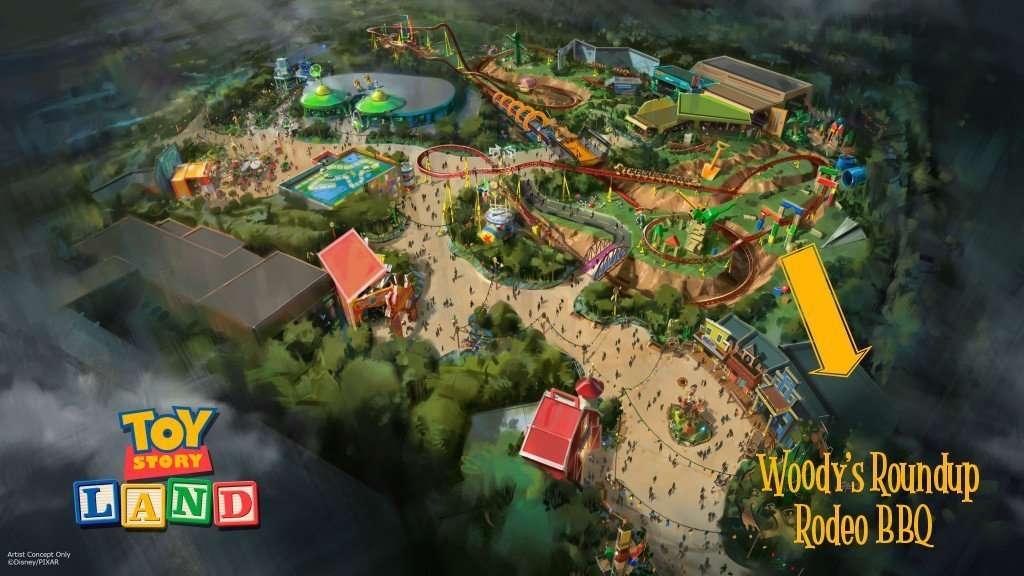 Woody's Roundup Rodeo BBQ Restaurant Location