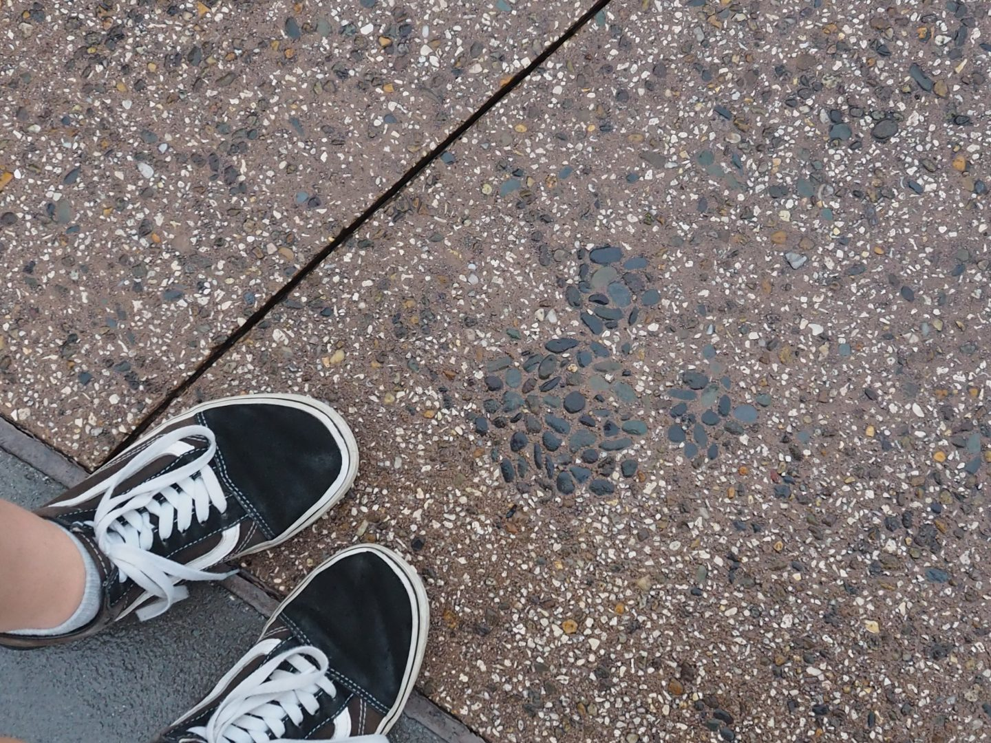 hidden mickey on the ground