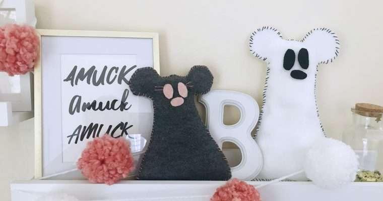 Mickey Ghost Pillow DIY Disney Halloween Craft