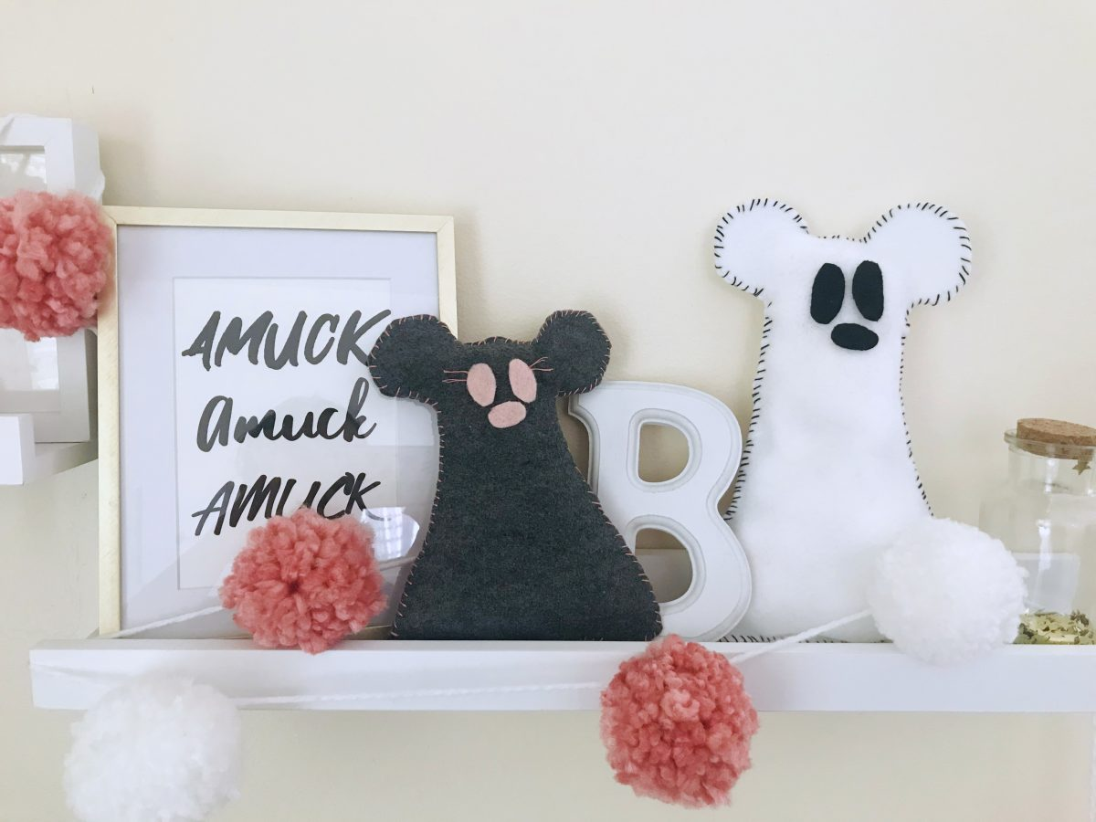 Mickey Ghost Pillow DIY Disney Halloween Craft