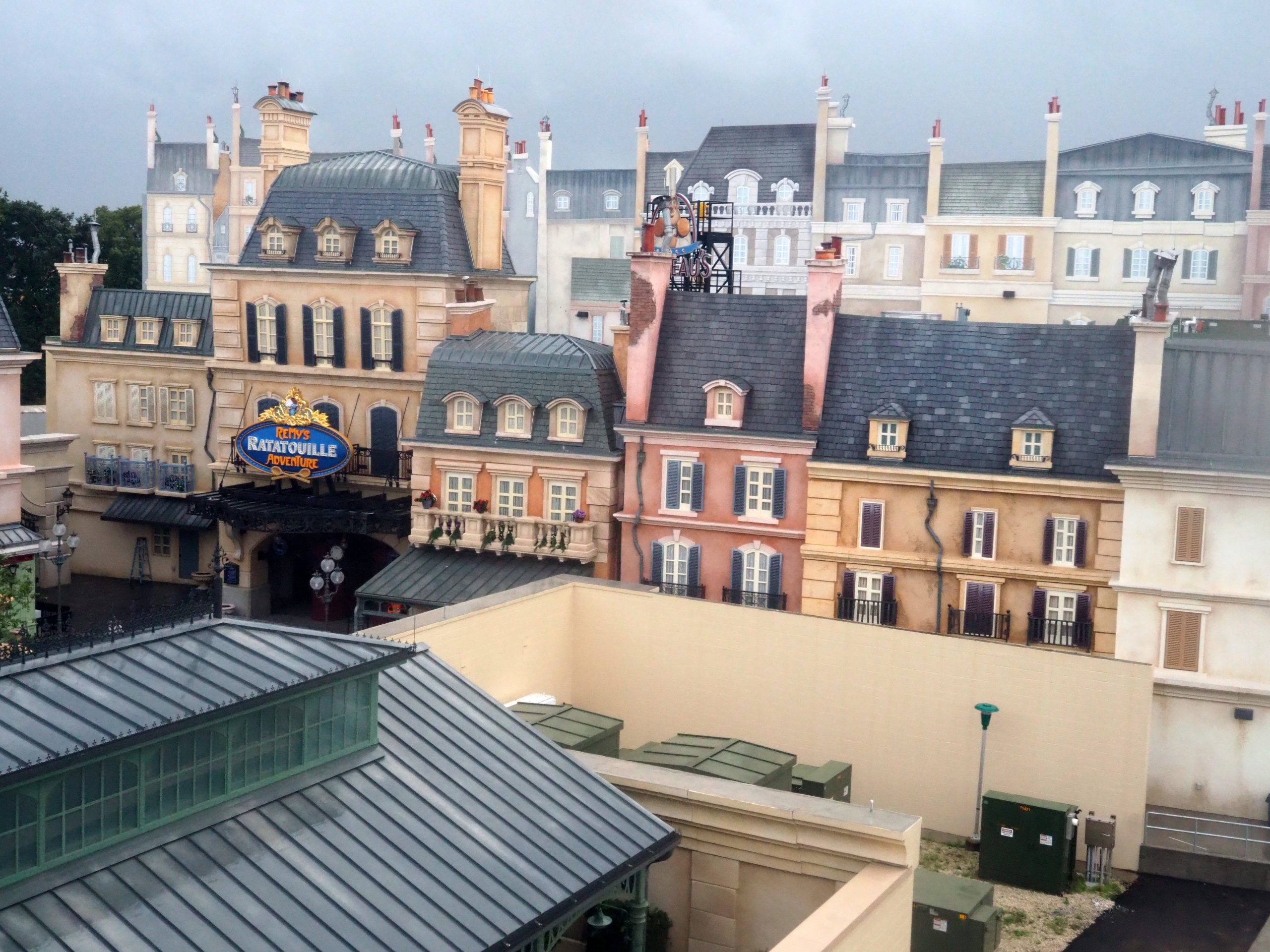 Remy's Ratatouille Adventure and Courtyard in EPCOT France