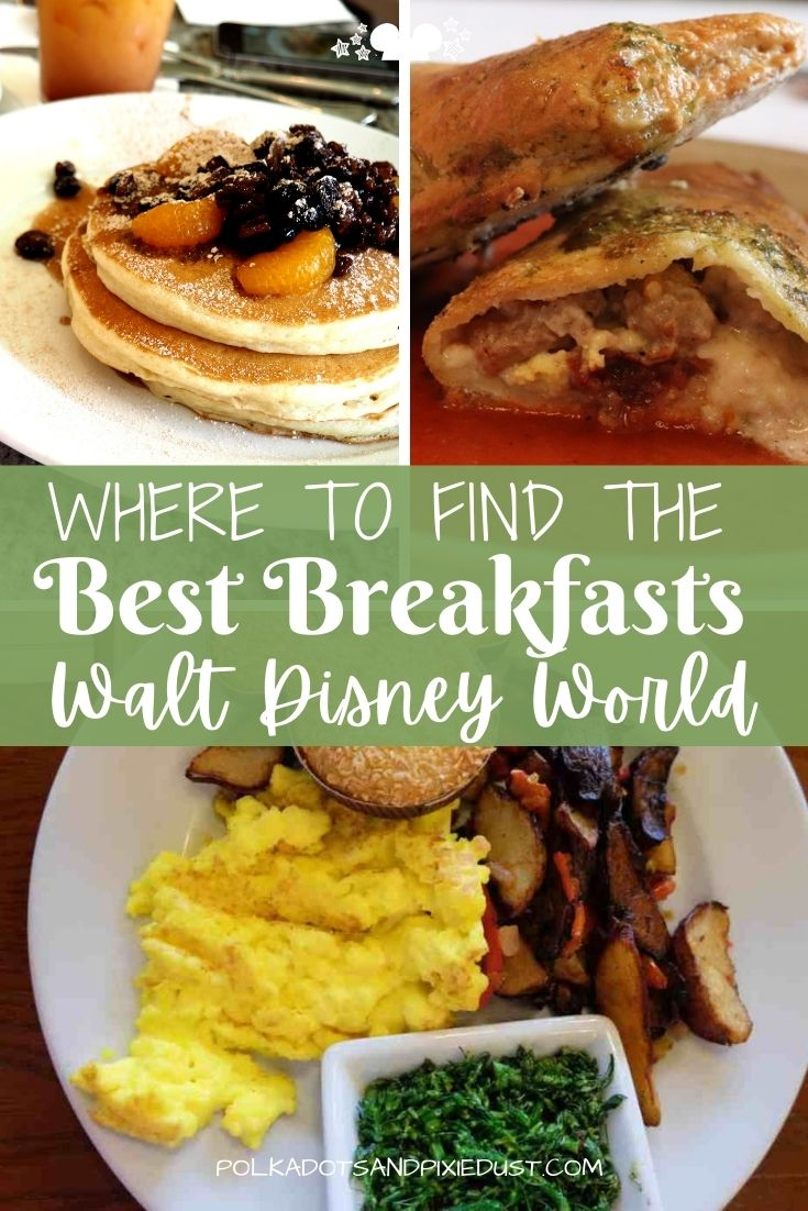 Breakfast at Walt Disney World can be a treat! If you know where to go. We've gathered up our favorite Disney Restaurants for breakfast and brunch in each park, the resorts and on the Disney Boardwalk, so you can always make sure to start your Disney right. #disneybreakfast #disneyvacation #polkadotpixies