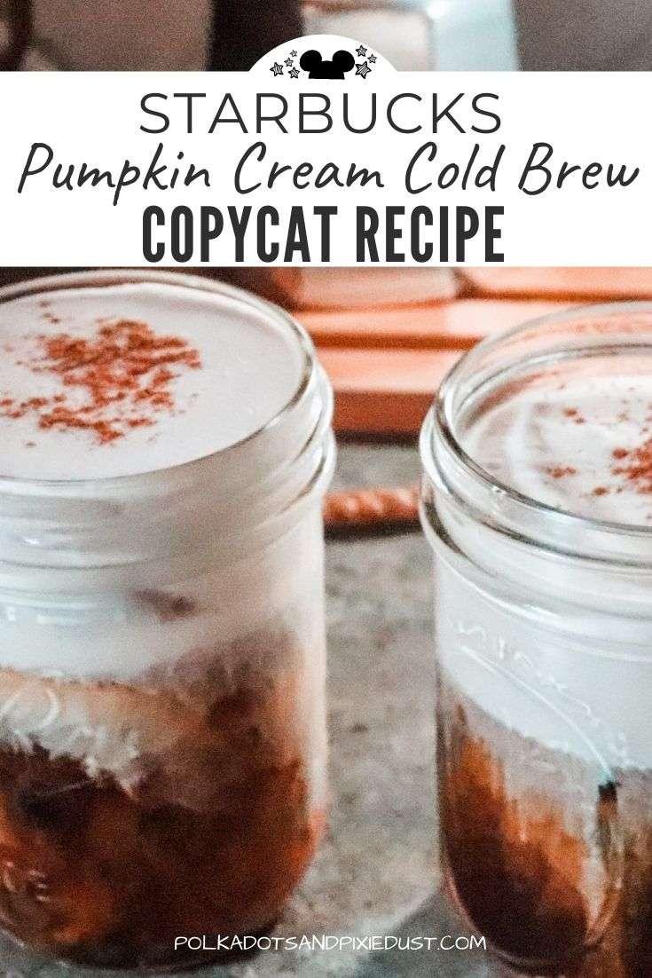 Pumpkin Cream Cold Brew Copycat Recipe from Starbucks #coffeerecipes #starbucksrecipe