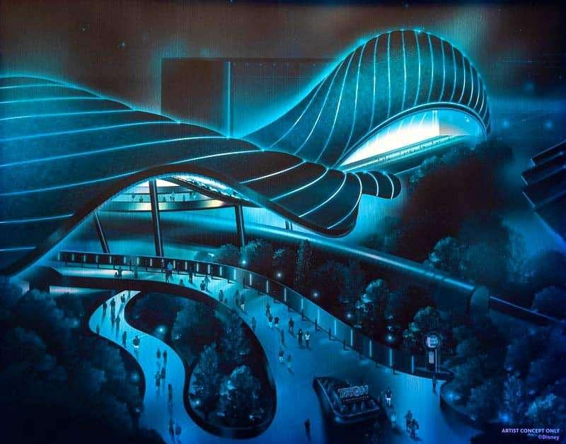 TRON Lightcycle Run at Walt Disney World 50th Anniversary 2021