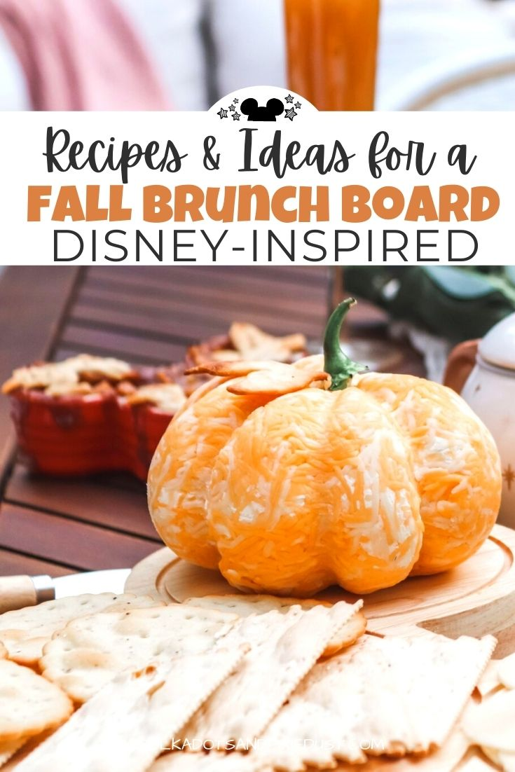 Brunch Board Recipes and Ideas to fill your table for the Fall months! With Mickey Waffles, cozy drinks and desserts, here are our favorite things to add to the fall table for a party at home. #brunch #disneyrecipes #fallrecipes