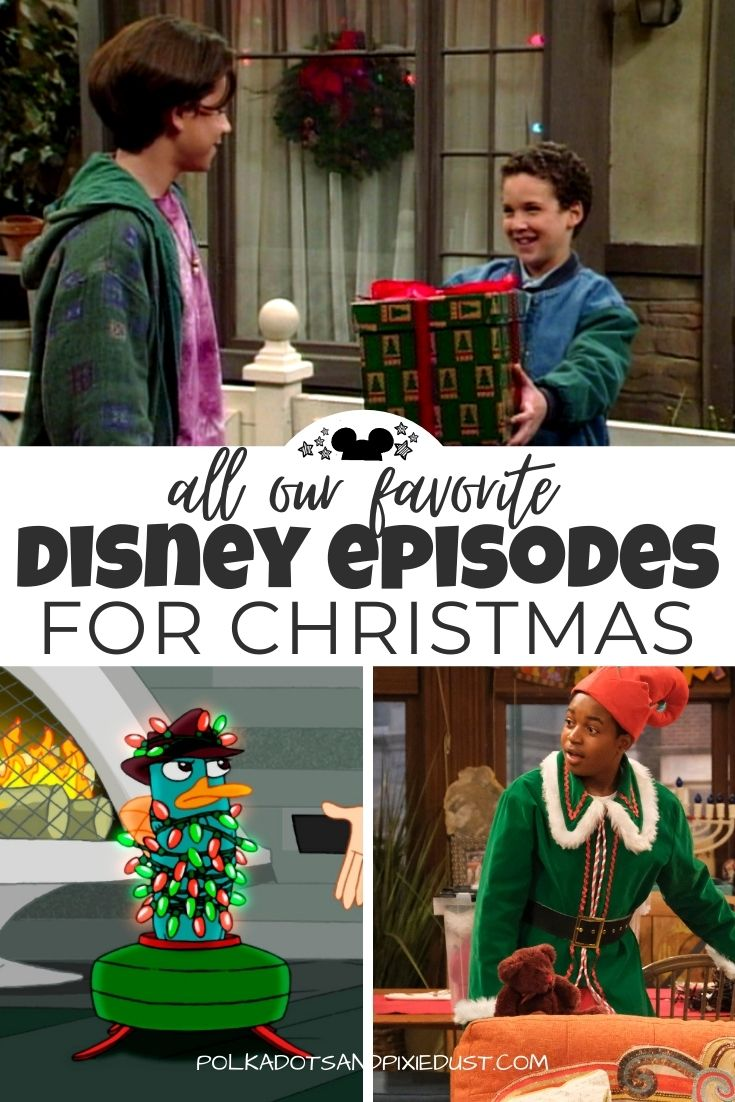 Disney Channel Christmas Episodes you can find on Disney Plus are Must See for the Holidays! Here are all the Christmas episodes with favorite from Ducktales, Jessie and Boy Meets World. See them all! #disneychannel #disneypluschristmas #christmasondisneyplus #disneychannelchristmas #polkadotpixies