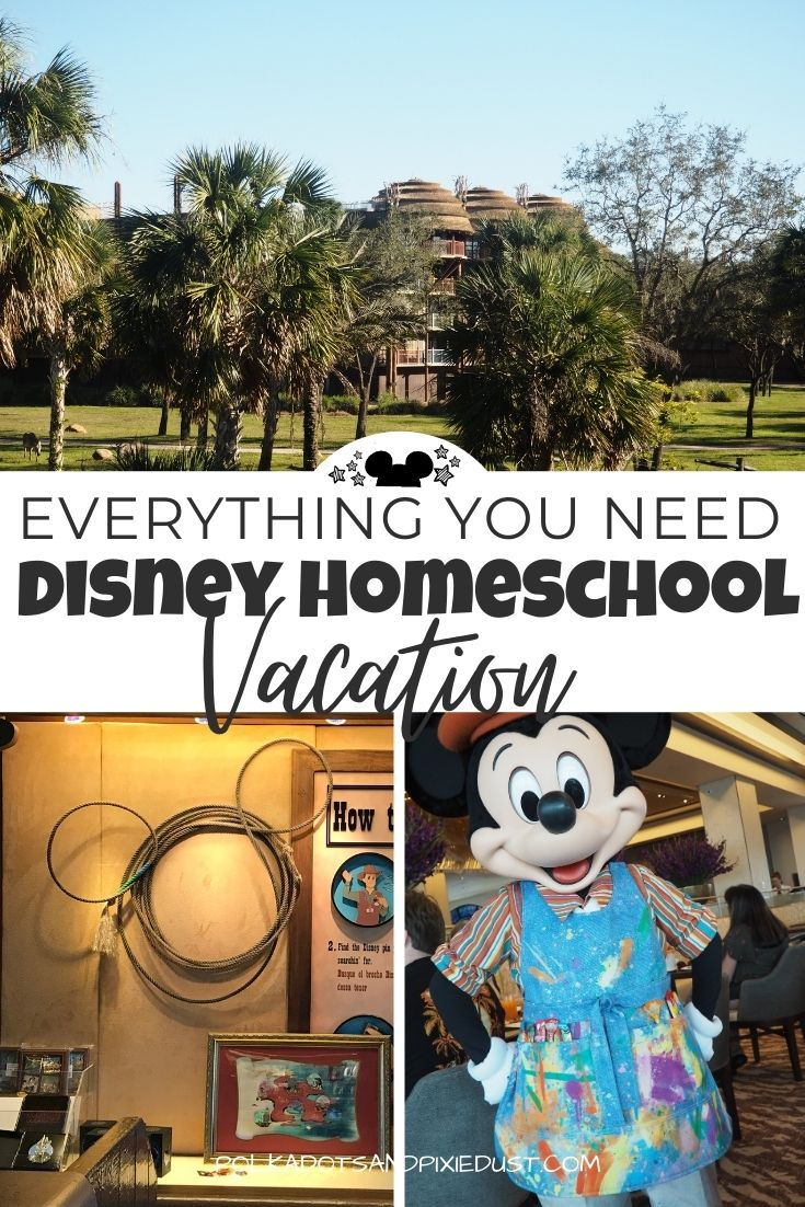 A Disney Homeschool Vacation is all about adding more Educational Activities into your Walt Disney World vacation. Here are the resources to get you started planning an educational Disney Vacation. #polkadotpixies #disneyschool #disneyvacation