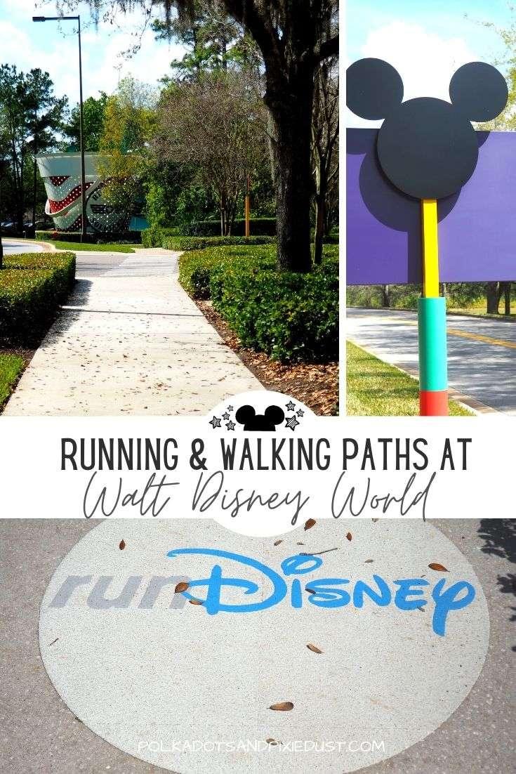 Walking and Running Paths at Walt Disney World across the Disney Resorts are prefect for an easy stroll, walking program or runDisney training. #polkadotpixies