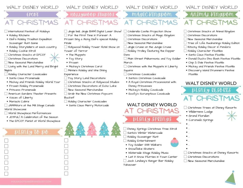 Walt Disney World Christmas Check List To Do At Christmas at Walt Disney World