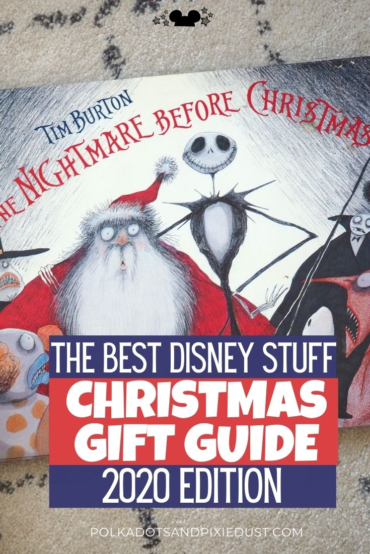 Disney Christmas Gift Guide with lists of all our favorite Disney Gifts, from shirts, to home decor to coffee and more. Plus our polka dot pixie shop guide for 2020! #disneygifts #disneychristmas