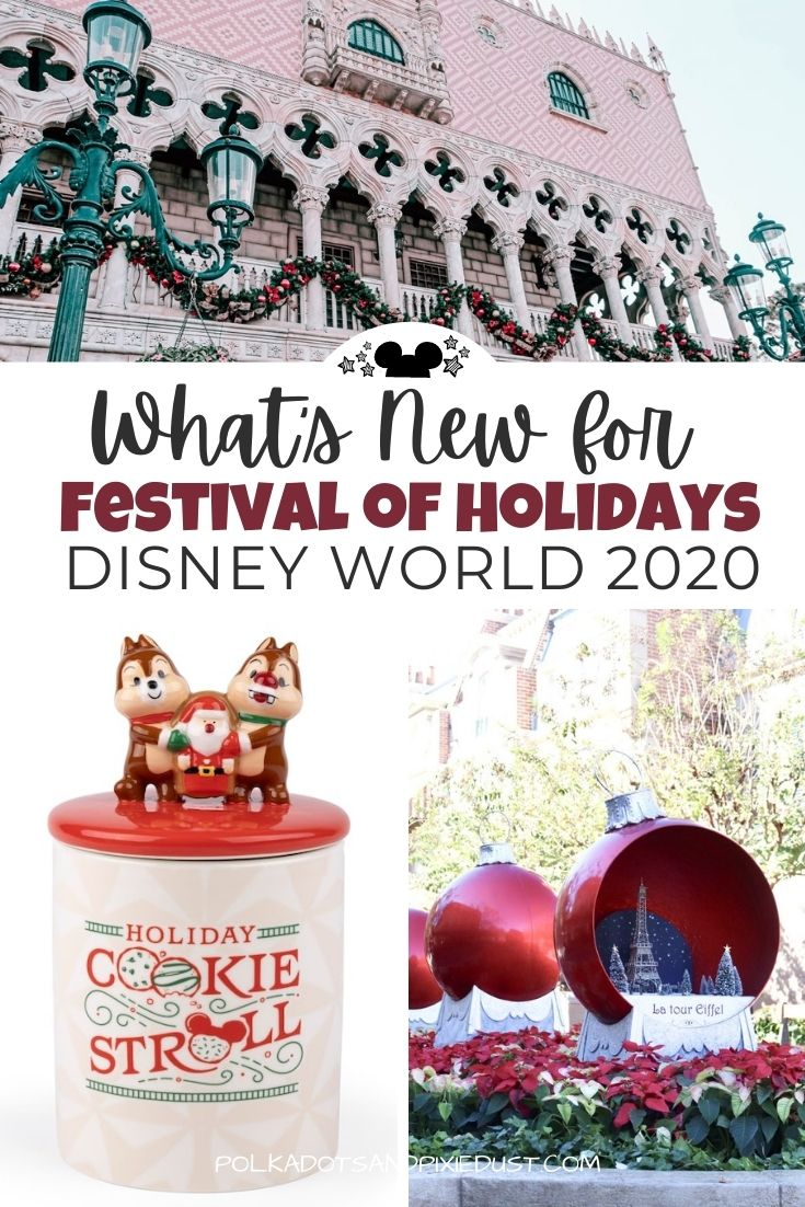 What's New at Festival of Holidays for 2020! New Food Booths, New Entertainment, a Brand New Scavenger Hunt Game and more for the Festival of Holidays. #disneychristmas #disneyholiday #polkadotpixies
