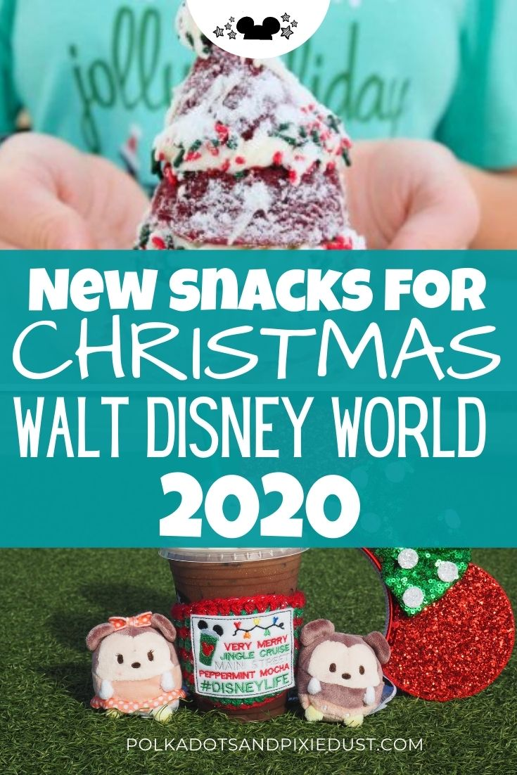 New Holiday treats for 2020 at Walt Disney World in all four parks! Check out new snacks in gingerbread, peppermint, caramel and all the holiday flavors!