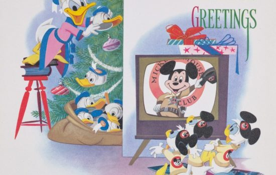 Vintage Disney Christmas Cards for the Holidays