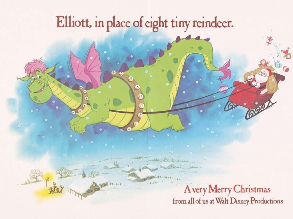 Petes Dragon Christmas Card